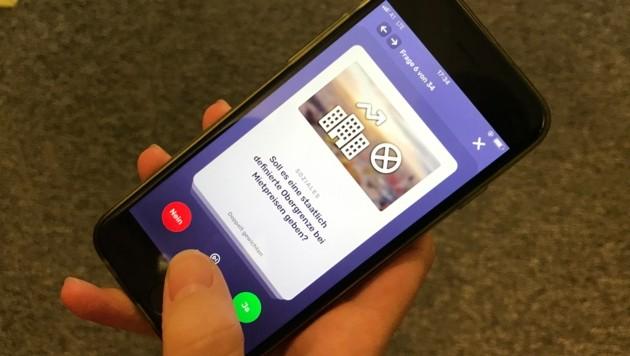 """Den """"WahlSwiper"""" gibt es für die Smartphones zum Runterladen. (Bild: Wolfgang Fürweger)"""