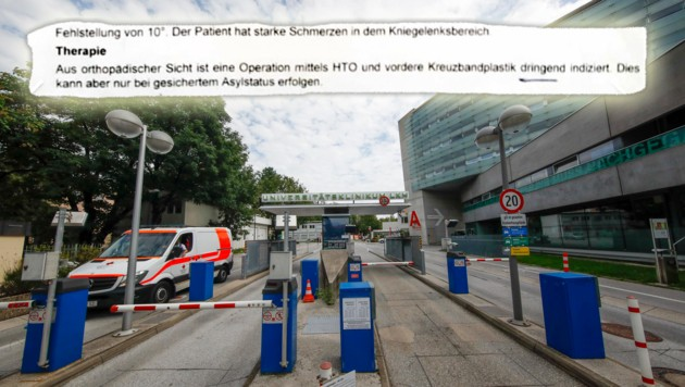 """Die Operation wurde """"dringend indiziert"""", allerdings erst nach dem geklärten Asylstatus. (Bild: Markus Tschepp)"""