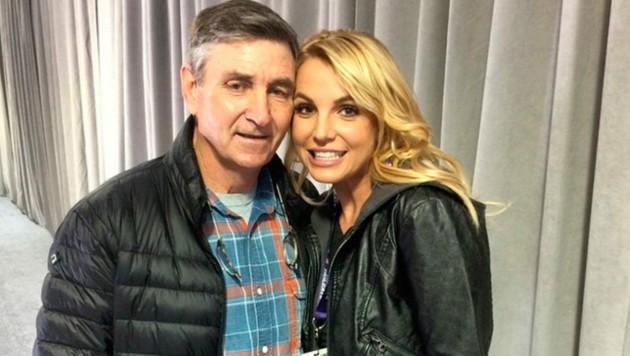 Britney Spears mit ihrem Vater Jamie Spears (Bild: www.PPS.at)