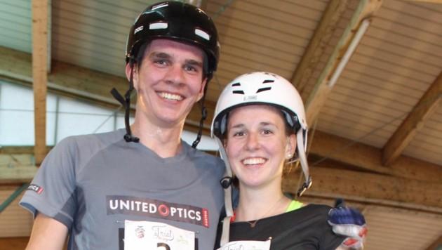 Johannes Baumkirchner (20) mit seiner Schwester Sophie (18) (Bild: Zvg)