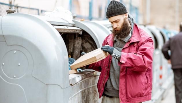 In Müll finden sich oft noch genießbare Lebensmittel. Der Fall eines Duos in Wien führte zu einem langen Rechtsstreit. (Bild: stock.adobe.com (Symbolbild))