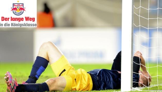 Martin Hinteregger verstand nach der zweiten Niederlage gegen Malmö die Fußball-Welt nicht mehr (Bild: Andreas Tröster/Kronenzeitung)