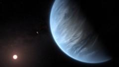 Eine Illustration des Exoplaneten K2-18b (Bild: AP)