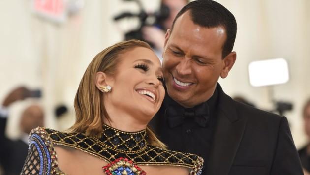 Jennifer Lopez und Alex Rodriguez (Bild: AFP)