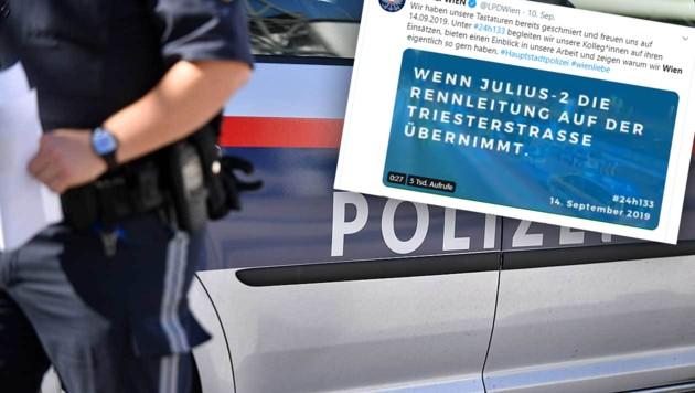 (Bild: APA/BARBARA GINDL, Screenshot twitter.com/LPD Wien, krone.at-Grafik)