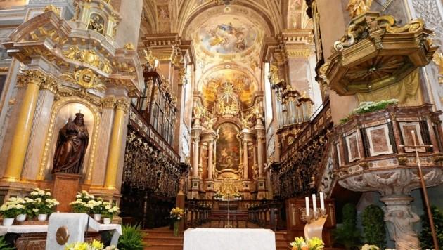 Der Altarraum im Stift Klosterneuburg (Bild: Klemens Groh)