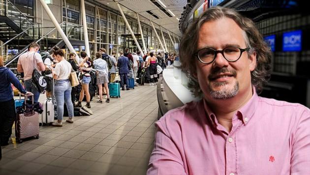 Auf dem Flughafen in Amsterdam wurde Thomas Schmidinger die Weiterreise in die USA verweigert.