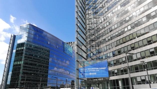 Impfgipfel der WHO/EU in Brüssel. (Bild: Karin Podolak)
