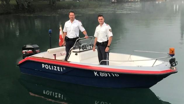 Stefan Igerc (li.) und Thomas Geith von der Polizeiinspektion St. Kanzian fuhren sofort zum Unglücksort in Klopein. (Bild: zVg)