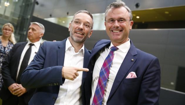 FPÖ-Klubobmann Herbert Kickl (li.) und Parteichef Norbert Hofer (Bild: APA/Erwin Scheriau)