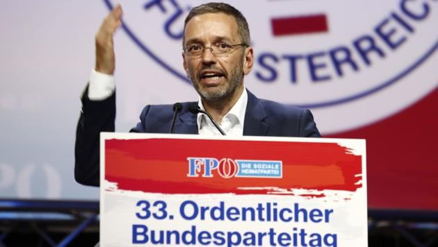 Herbert Kickl holte am FPÖ-Parteitag zum Rundumschlag aus.