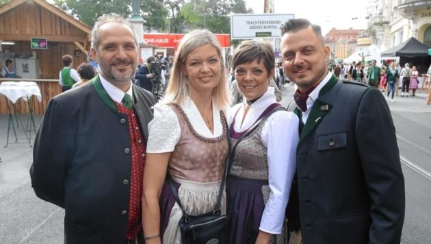 Sie organisieren das Aufsteirern: Events-Veranstalter Giuseppe Perna, Astrid Perna-Benzinger, Alexandra Lientscher und Markus Lientscher