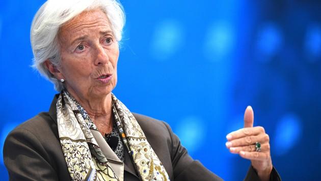 Die Präsidentin der Europäischen Zentralbank, Christine Lagarde (Bild: AFP)