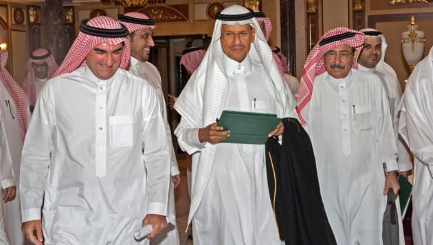 Abdulaziz bin Salman (Bildmitte) (Bild: AFP)