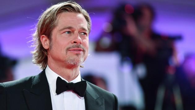 Brad Pitt wirkt bedrückt. (Bild: AFP)