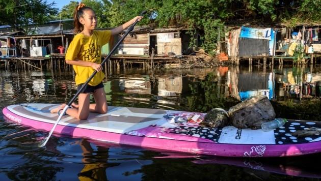Lilly ist Thailands Greta Thunberg (Bild: AFP)
