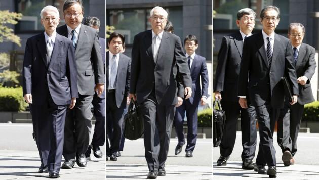 Die drei früheren Topmanager wurden freigesprochen. (Bild: Kyodo News)