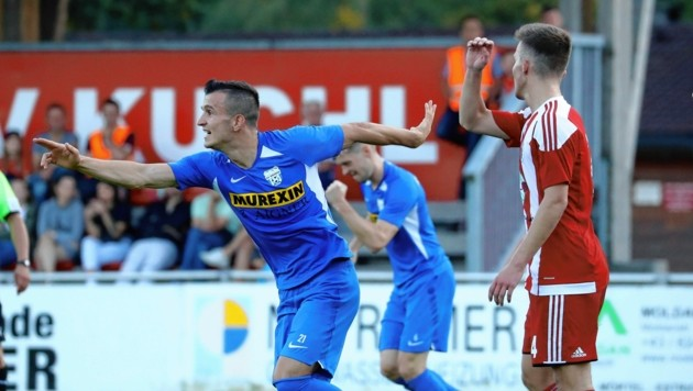 Grödig (im Bild Valdrin Kadrija) darf sich über ein Heimspiel im ÖFB-Cup freuen.