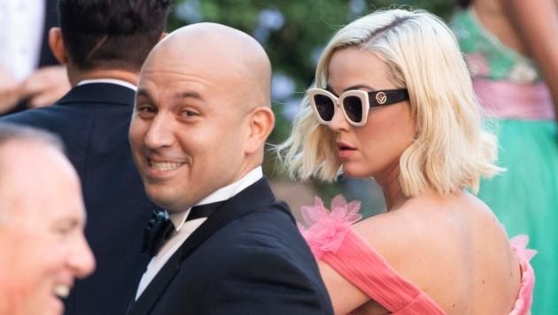 Auch Sängerin Katy Perry und Orlando Bloom (vorne links im Bild) waren zu Gast (Bild: Claudio Peri)