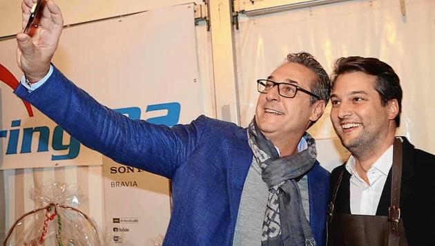 Ehemals beste Freunde: Ex-FPÖ-Chef Heinz-Christian Strache und der Wiener FPÖ-Vorsitzende Dominik Nepp (Bild: zVg)