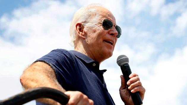 Joe Biden während eines Wahlkampfauftritts in Iowa (Bild: AP)