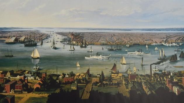 Sattler zeigt uns New York um 1854. (Bild: Wolfgang Weber)