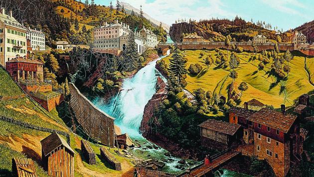 Das Wildbad Gastein um etwa 1844. (Bild: Salzburg Museum)