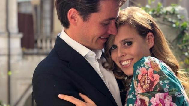 Edoardo Mapelli Mozzi und Prinzessin Beatrice (Bild: www.twitter.com/dukeofyork)