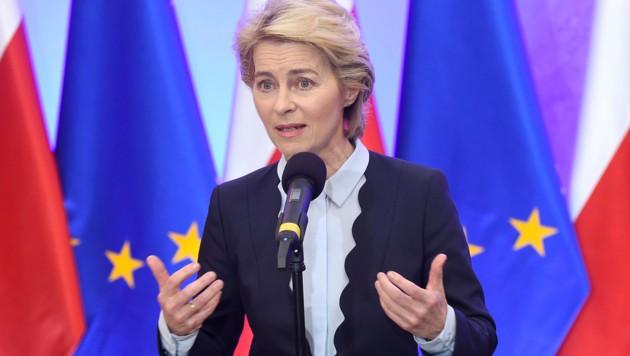 EU-Kommissionspräsidentin Ursula von der Leyen (Bild: APA/AFP/Janek Skarzynski)