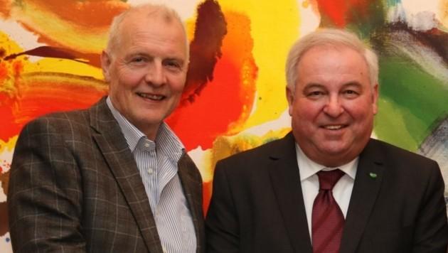 Gerhard Hirschmann und Hermann Schützenhöfer (Bild: STVP)