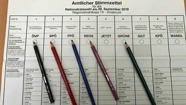Stimmzettel (Bild: Claus Meinert)