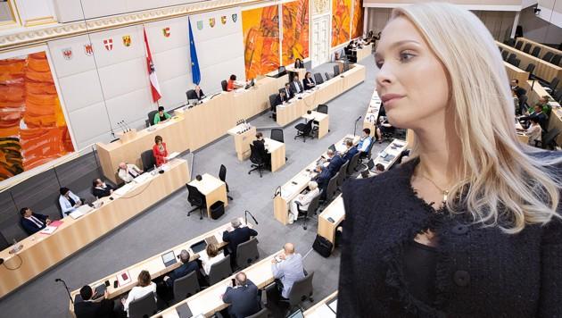 Philippa Strache (Bild: APA/Georg Hochmuth, krone.at-Grafik)
