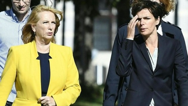 Doris Bures (links) und Pamela Rendi-Wagner (Bild: APA/Robert Jäger)