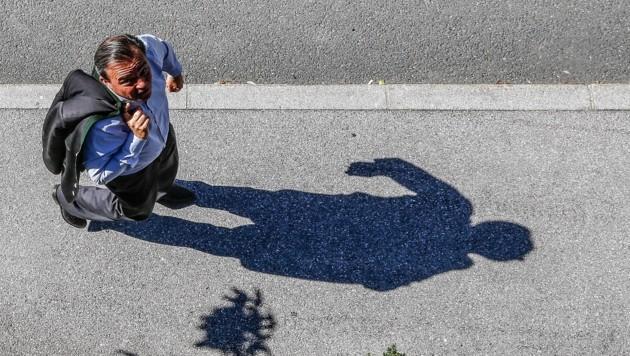 Christian Pewny kann dem Schatten der blauen Skandale nicht entkommen. (Bild: Gerhard Schiel)