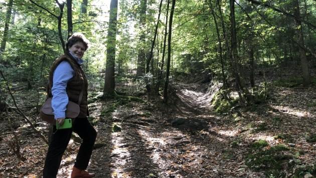 Marysia Miller-Aichholz zeigte uns die illegalen Single-Trails. (Bild: Wallner Hannes)