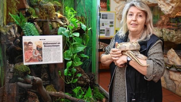 Die ausgesetzten Pythons wurden von Helga Happ versorgt. (Bild: Claudia Fischer)