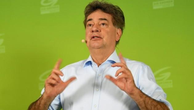 Die Grünen haben unter Werner Kogler den Wiedereinzug ins Parlament geschafft. Kommt es nun sogar zu einer Regierungsbeteiligung? (Bild: APA/ROLAND SCHLAGER)