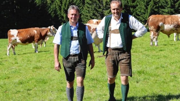Landwirtschaftkammerdirektor Werner Brugner (re.) und -Präsident Franz Titschenbacher (Bild: Juergen Radspieler)