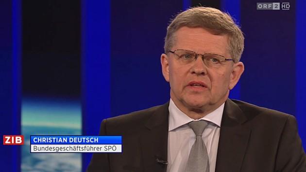 Der neue SPÖ-Bundesgeschäftsführer Christian Deutsch (Bild: Screenshot/ORF)