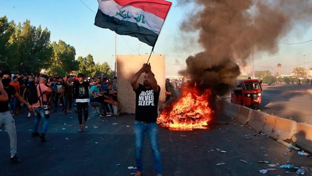 Proteste im Irak gegen die USA (Bild: Associated Press)