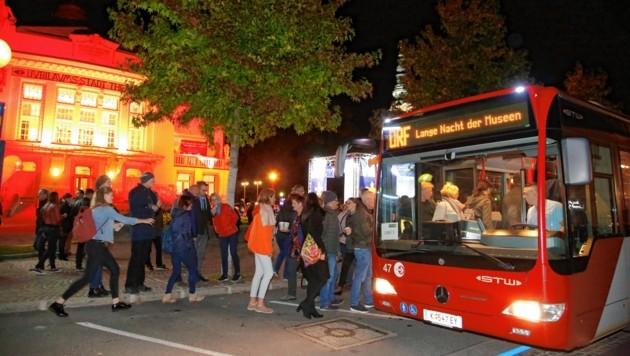 In Klagenfurt gab es eigene Bus-Shuttles. (Bild: Rojsek-Wiedergut Uta)