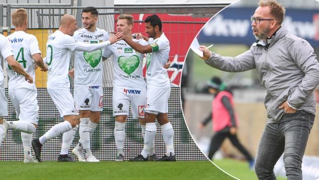 Am Samstag geht es für Coach Roman Mählich und seine Lustenauer im Cup gegen Wattens. (Bild: GEPA )