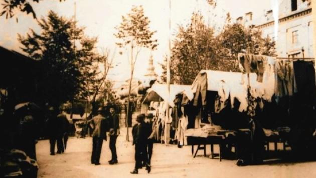 Vor rund 100 Jahren wurde der Ursulamarkt noch auf dem Neuen Platz mitten in der Stadt abgehalten. Erst Ende der Fünfzigerjahre zogen die Fieranten mit ihren Ständen auf das Klagenfurter Messegelände. (Bild: zVg)