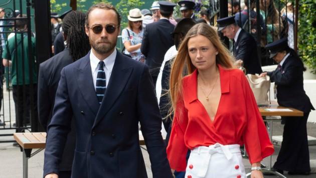 James Middleton und Alizee Thevenet im Sommer 2019 auf dem Weg zum Herren-Finale. (Bild: Giles Anderson / Camera Press / picturedesk.com)