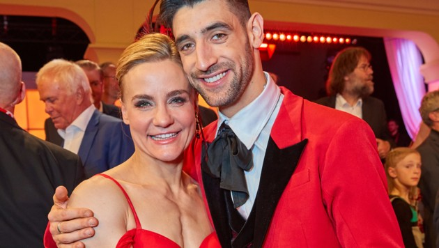 """Nicole Wesner und Dimitar Stefanin nach dem """"Dancing Stars""""-Finale 2019 (Bild: Starpix / picturedesk.com)"""
