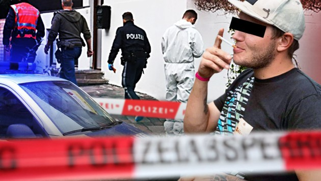 Unter dringendem Mordverdacht: Andreas E. (25) (Bild: Andi Schiel, APA/ZOOM.TIROL, krone.at-Grafik, facebook.com)
