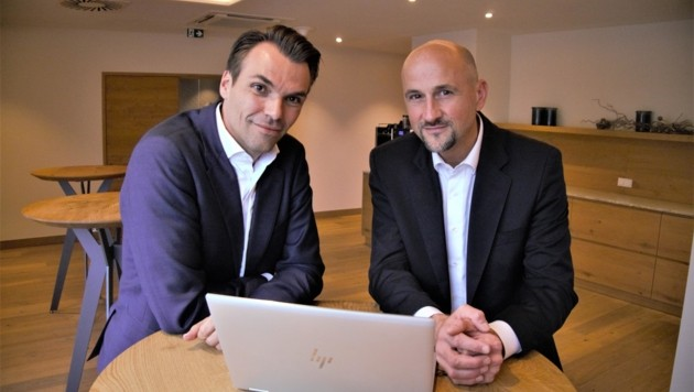 Jochen Borenich und Hans-Peter Ziegler von Kapsch BusinessCom (Bild: Christoph Laible)