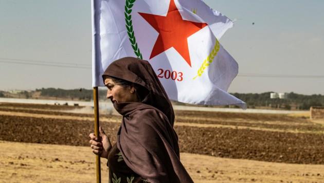 Eins syrische Kurdin in Nordsyrien (Bild: AFP)