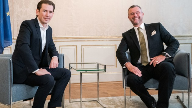 Sebastian Kurz (ÖVP), Norbert Hofer (FPÖ) (Bild: APA/GEORG HOCHMUTH)