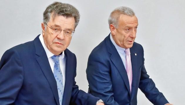 Hans Lindenberger (links) und sein Anwalt Hermann Holzmann. (Bild: Christof Birbaumer / Kronenzeitung)